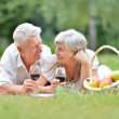 Loving mature couple — Stock Photo