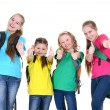 Cheerful group of schoolgirls — Stock Photo