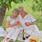Loving aged couple — Stock Photo #32395167