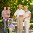 Happy family went for a walk  — Stock Photo