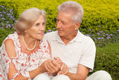 Attractive elderly couple together — Stock Photo