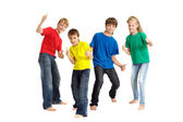 Cool children in bright T-shirts — Stock Photo