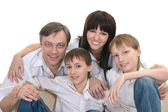 Portrait of a cheerful family — Stock Photo