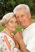 Magnificent elderly couple together — Stock Photo