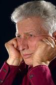 Pensive senior man — Stock Photo