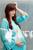 Nice pregnant woman clothes — Stock Photo