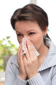 Frío enferma mujer — Foto de Stock