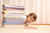 Playful girl is resting at home — Stock Photo