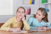Young twins drawing — Stock Photo