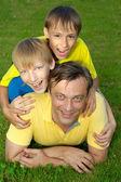 Pleasant family outdoors — Stock Photo