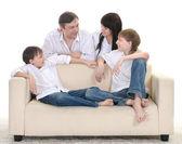 Ritratto di una famiglia allegra — Foto Stock