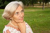 Good elderly woman — Stock Photo