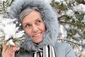 在冬天的女人 — 图库照片