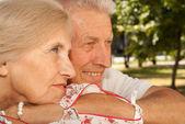 Beauteous elderly couple together — Stock Photo