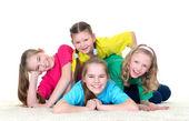 Groep kinderen — Stockfoto