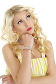 Beautiful blonde with a bright appearance — Stock Photo
