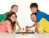 Lovely family of four people — Foto Stock