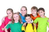 Group school children — Stock Photo