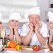 Grandparents and their grandchildren — Stock Photo #32400413