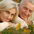 Very nice old couple lying — Stock Photo #32402303