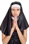 Beautiful young nun — Stock Photo
