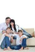 Portrait of the European family — Stock Photo