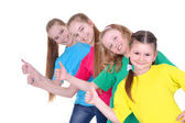 Cheerful young girls — Stock Photo