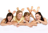 Four nice young girls — Stock Photo