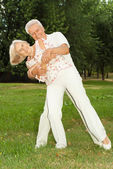 Glorious elderly couple together — Stock Photo