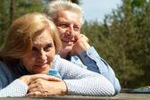 Pleasant old people — Stock Photo