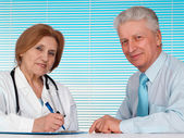 Great doctor and her patient — Stock Photo