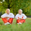Sportive elderly couple — Stockfoto