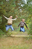 Two boys in park — Stock Photo