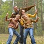 Nice Family of four — Stock Photo
