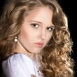Beautiful curly-haired girl  — Stock Photo
