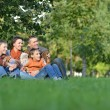 L happy family relaxing  — Stock Photo