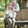 date an older couple — Stock Photo