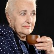 Pensive elderly woman — Lizenzfreies Foto