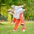 Stock Photo: Fit senior couple