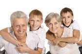 Abuelos con nietos — Foto de Stock