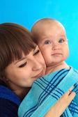 Moeder bedrijf baby — Stockfoto