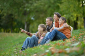 Happy family relaxing — Stock Photo
