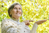 Nice old woman — Stock Photo