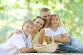 семьи из четырех человек — Стоковое фото