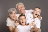 Dziadkowie z wnukami — Zdjęcie stockowe