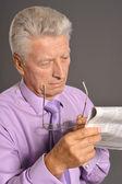 Elderly man portrait — Stock Photo