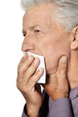 Sick old man — Stock Photo