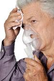 портрет пожилой больной человек — Стоковое фото