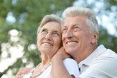 счастливая пожилая пара — Стоковое фото