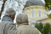 Attractive elderly couple — Stock Photo